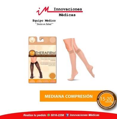 Medias de compresión 15-20mmHg a la rodilla, color beige