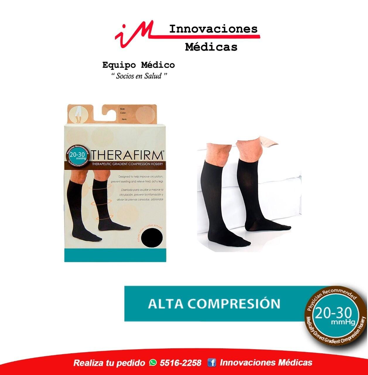 Calcetín de compresión 20-30mmHg, negro