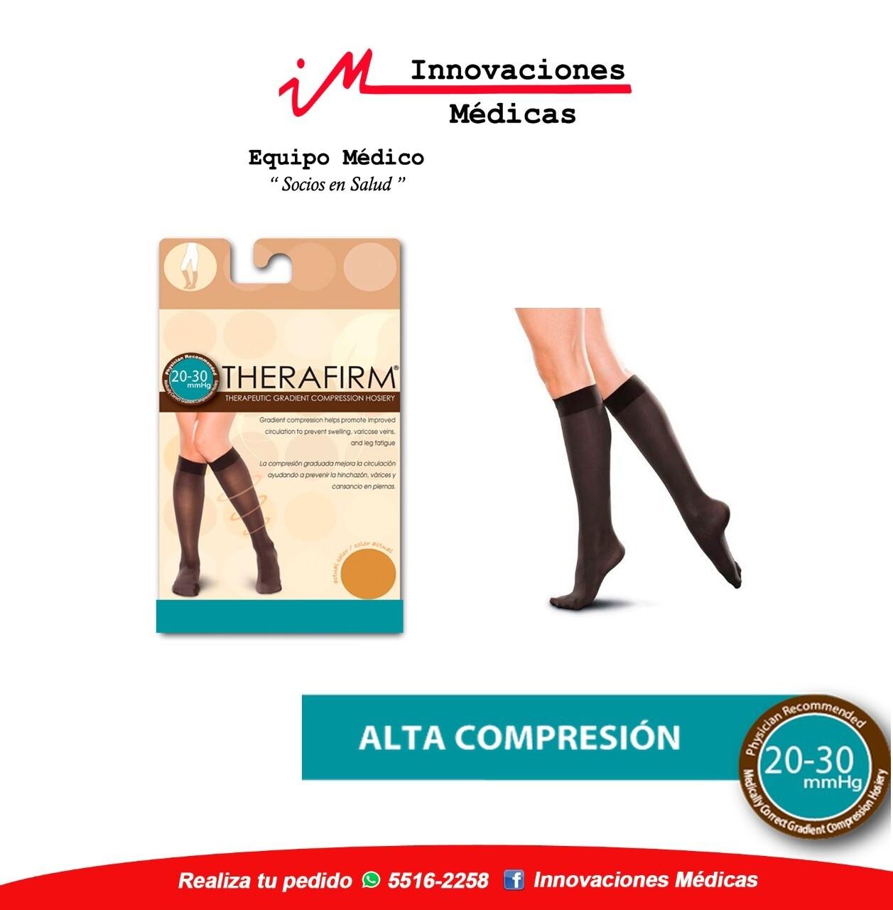 Medias de compresión 20-30 mmHg a la rodilla, negro