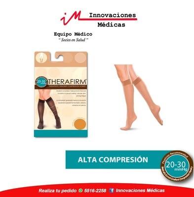 Medias de compresión 20-30 mmHg a la rodilla, beige