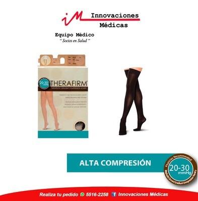 Medias de compresión 20-30mmHg al muslo, negro