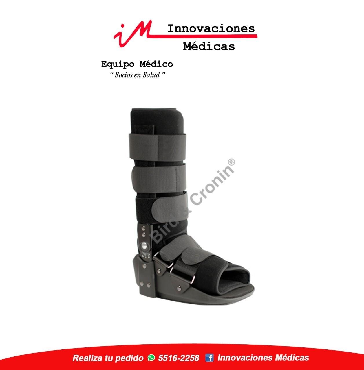 Inmovilizador de tobillo, tipo bota ajustable, negro