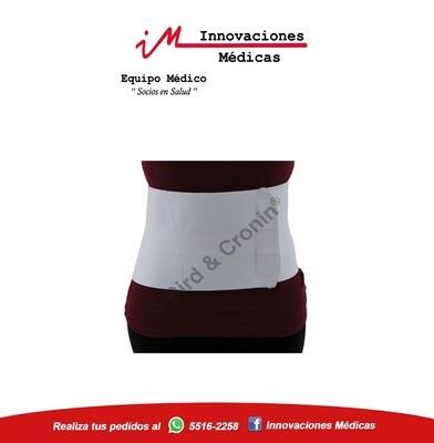 Faja de soporte lumbar, color blanco