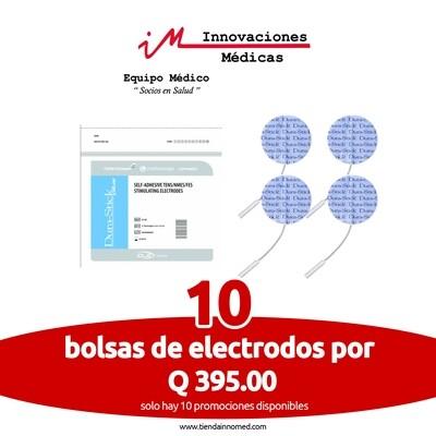 Electrodos DuraStick redondos 5cms, Pin (10 Pack)