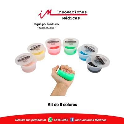 Plasticina terapéutica 2onz  (Kit de 6 colores)