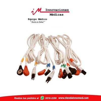 Juego de cables de Broche Compex 6P (blanco)