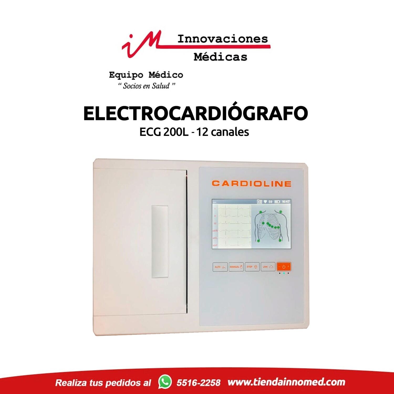 Electrocardiógrafo portátil de 12 canales