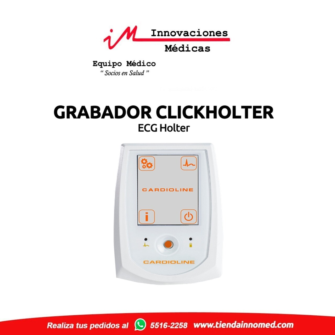 Clickholter Grabador ECG Holter