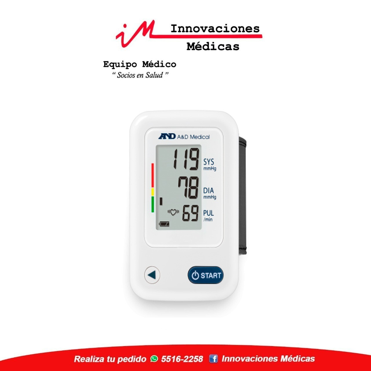 Monitor de presión arterial de muñeca esencial