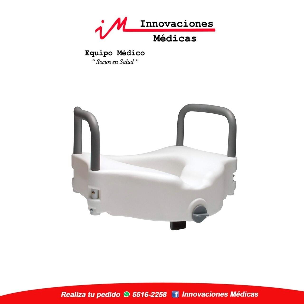 Asiento plástico para alza de sanitario de  52 X 41 X 15.5 cm