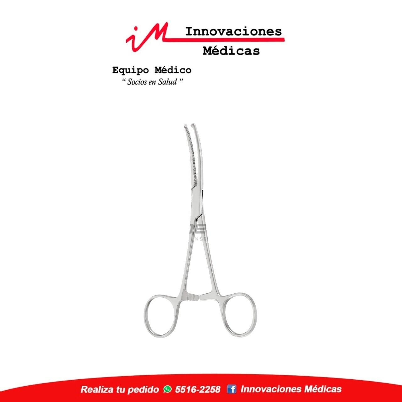 Pinza ROCHESTER-OCHSNER hemostatica  curva, 1x2 dientes