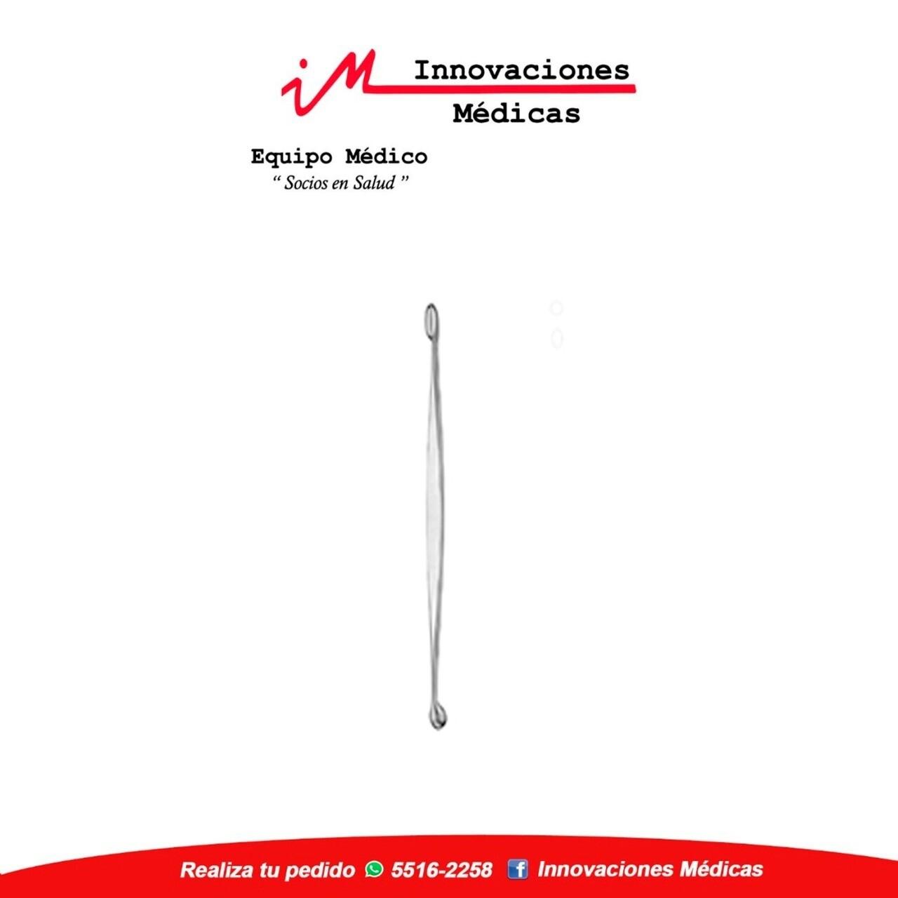 VOLKMANN cucharilla doble 13cm, redonda/ovalada, cortante