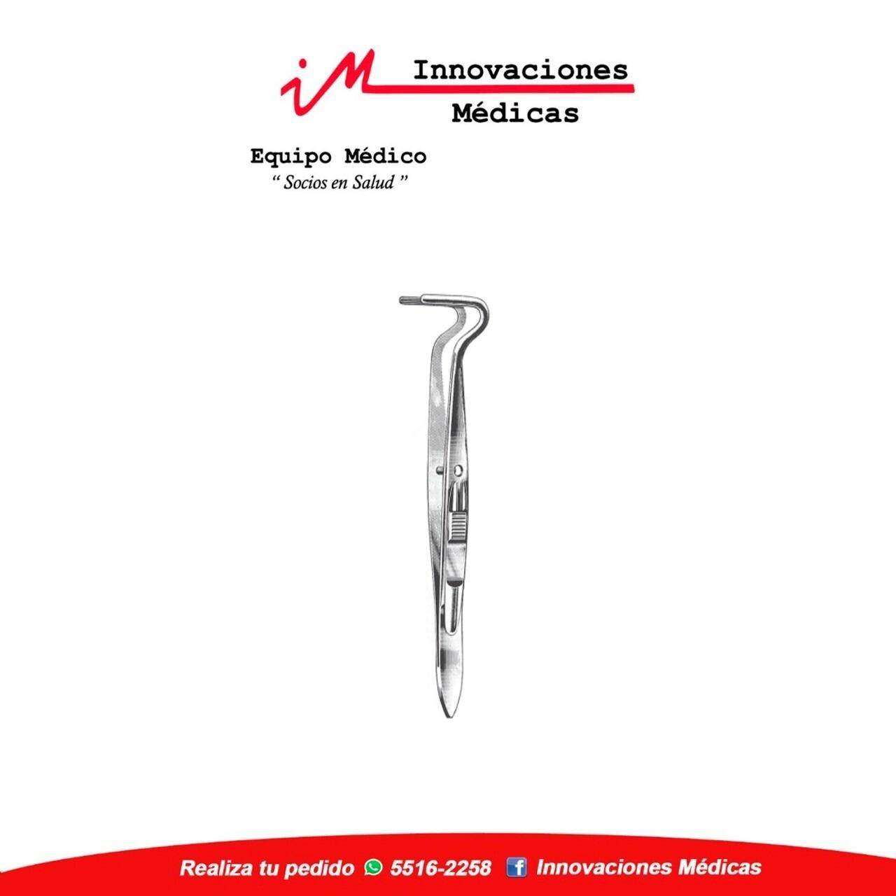Pinza muscular,BERKE  10cm, boca para Oftalmología 20mm