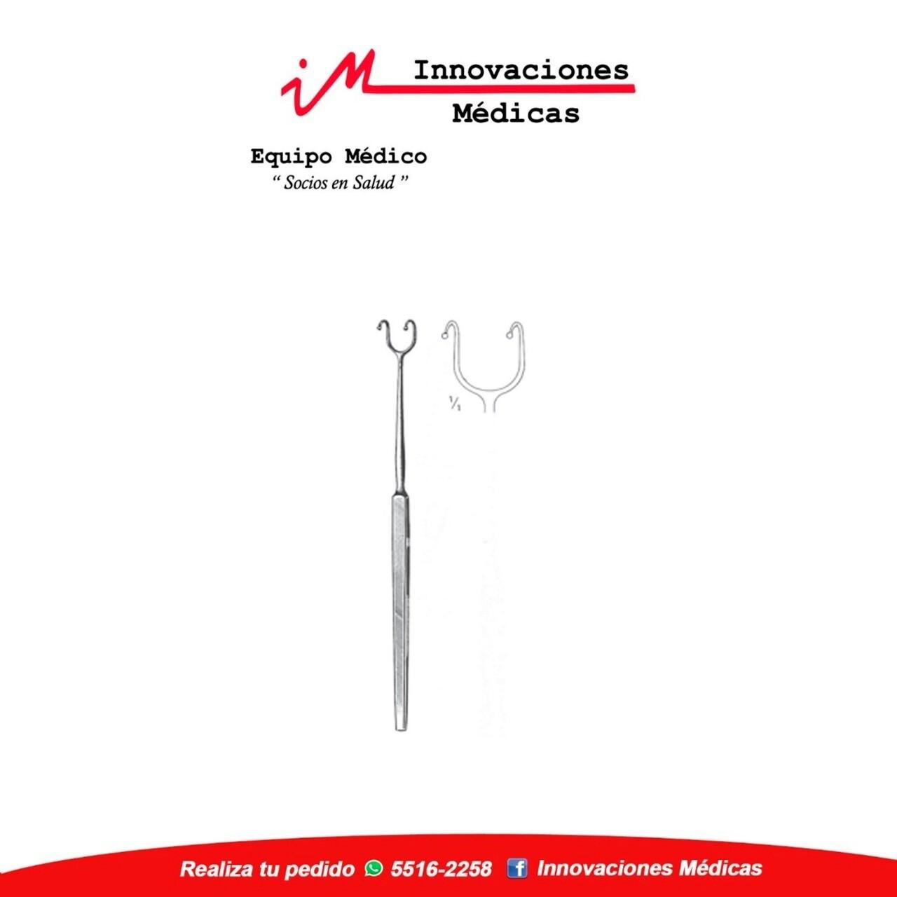 Separador nasal FOMON para Rinología, con doble gancho 16cms