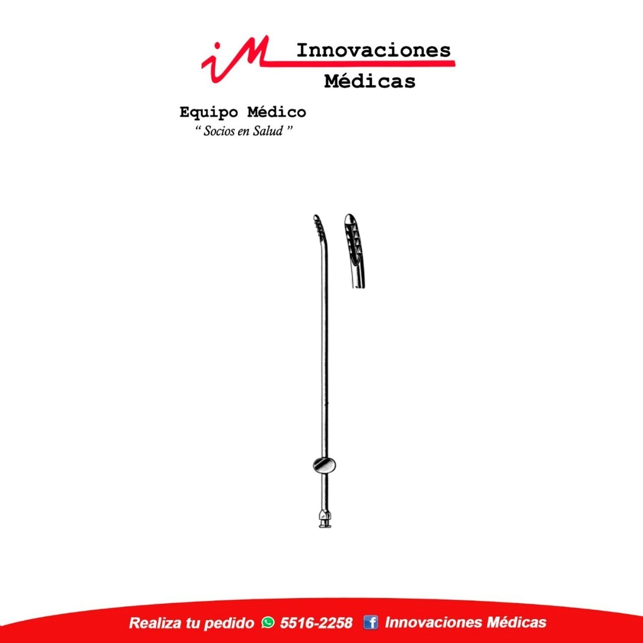 Cureta Uterina aspiradora, NOVAK ,3mm, 23cm