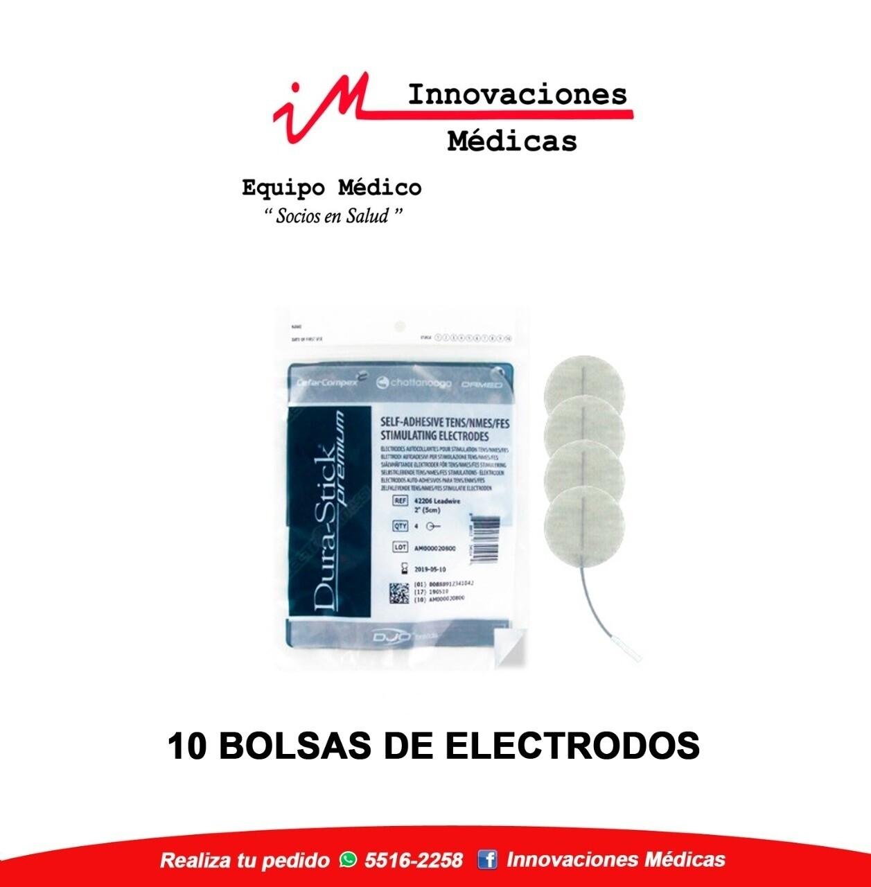 Kit de Electrodos DuraStick Premium Redondos 3.2cms Pin