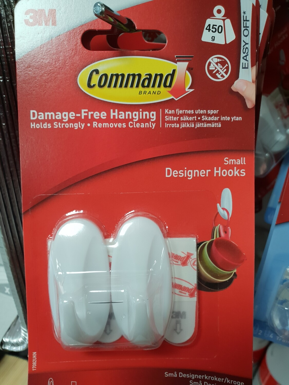 3M Command small hooks 2pk ..450g