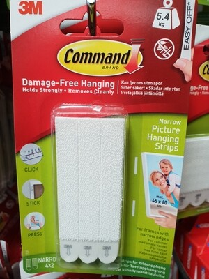 3M Command 5.4kg picture strips
