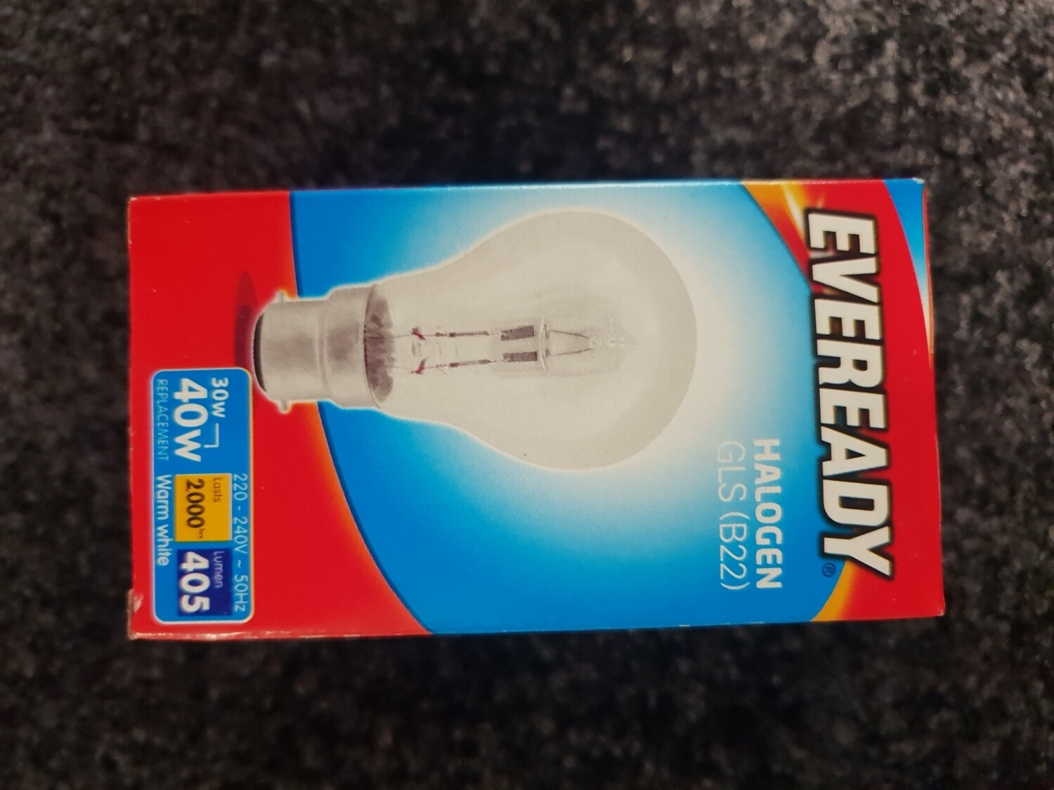 HALOGEN LIGHT BULB BC 40W