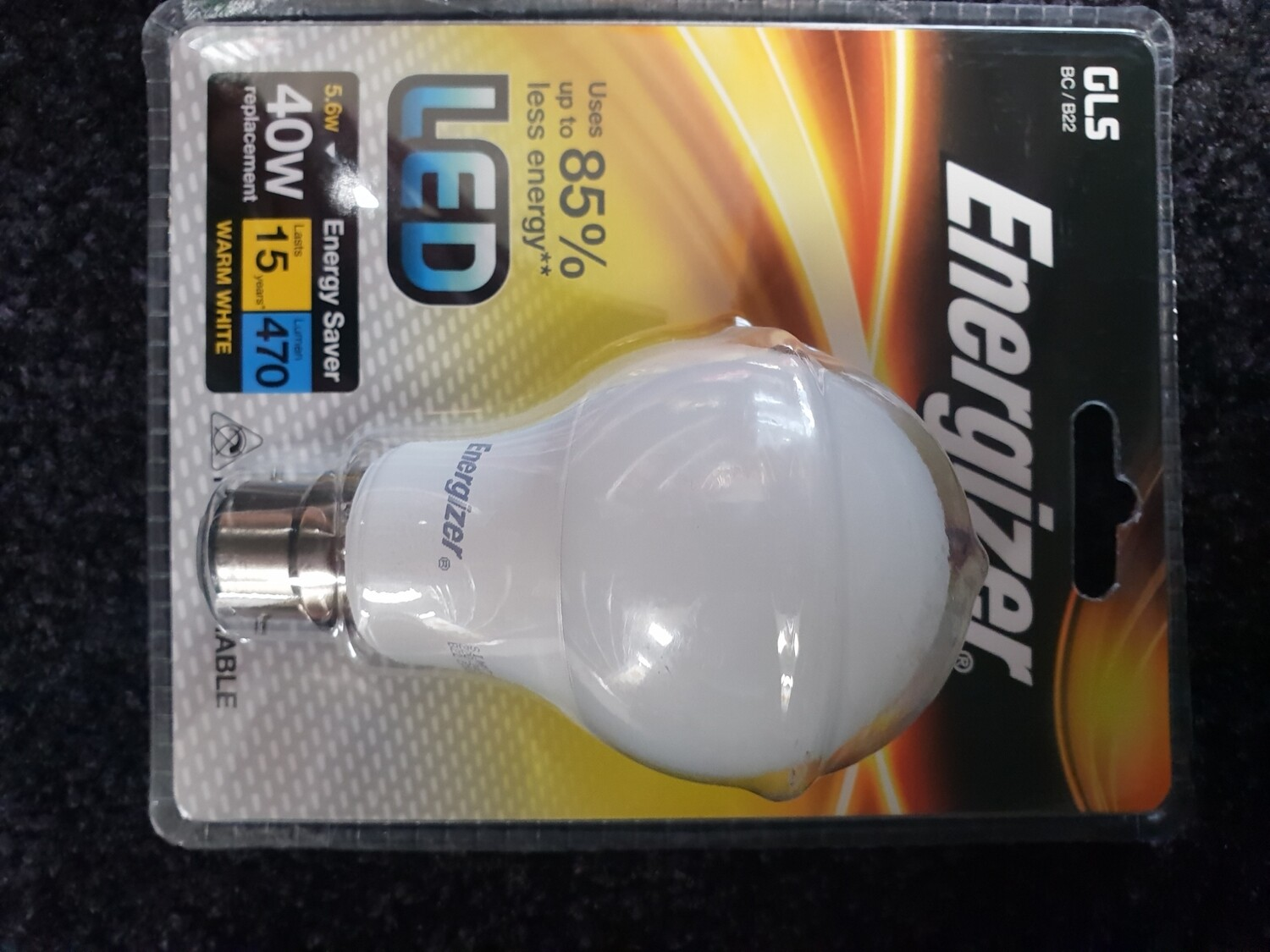 LED ENERGIZER LIGHT BULB BC