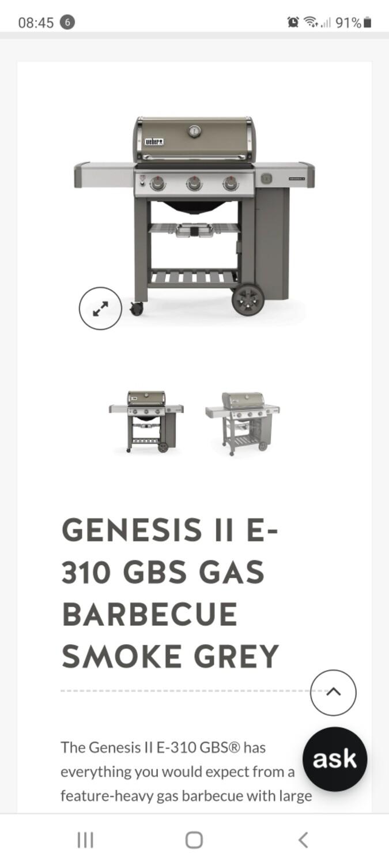 WEBER GENESIS     II   E310   SMOKE GREY
