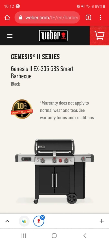 GENESIS II EX 335 GBS GAS BLACK
