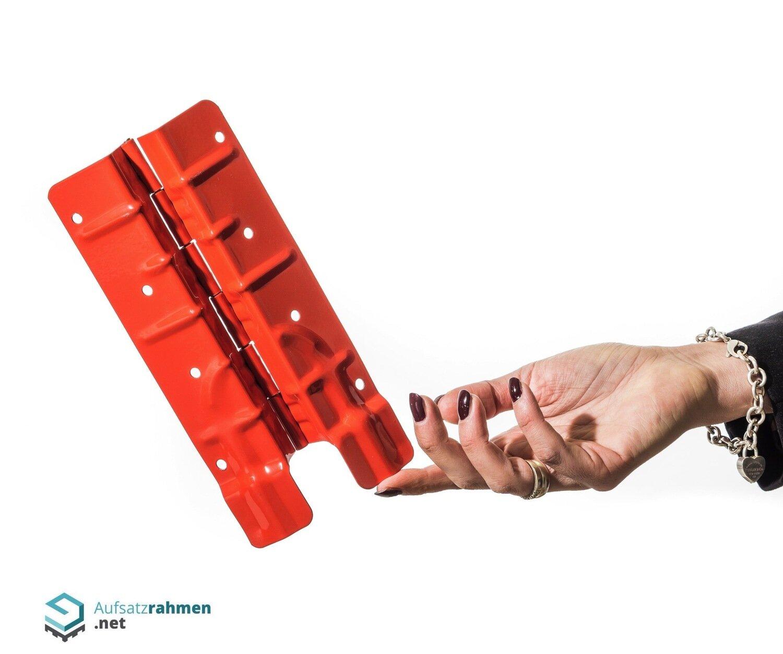 Scharniere für Aufsatzrahmen 200mm - rot