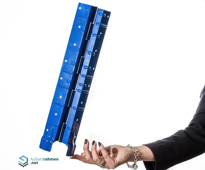 Scharniere für Aufsatzrahmen 400mm - blau