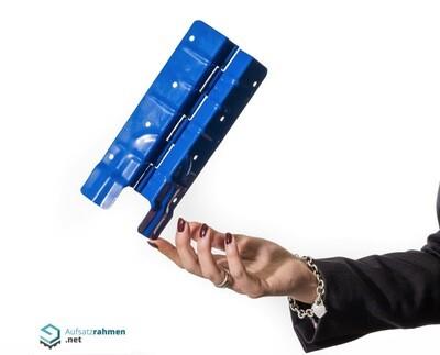 Scharniere für Aufsatzrahmen 200mm - blau