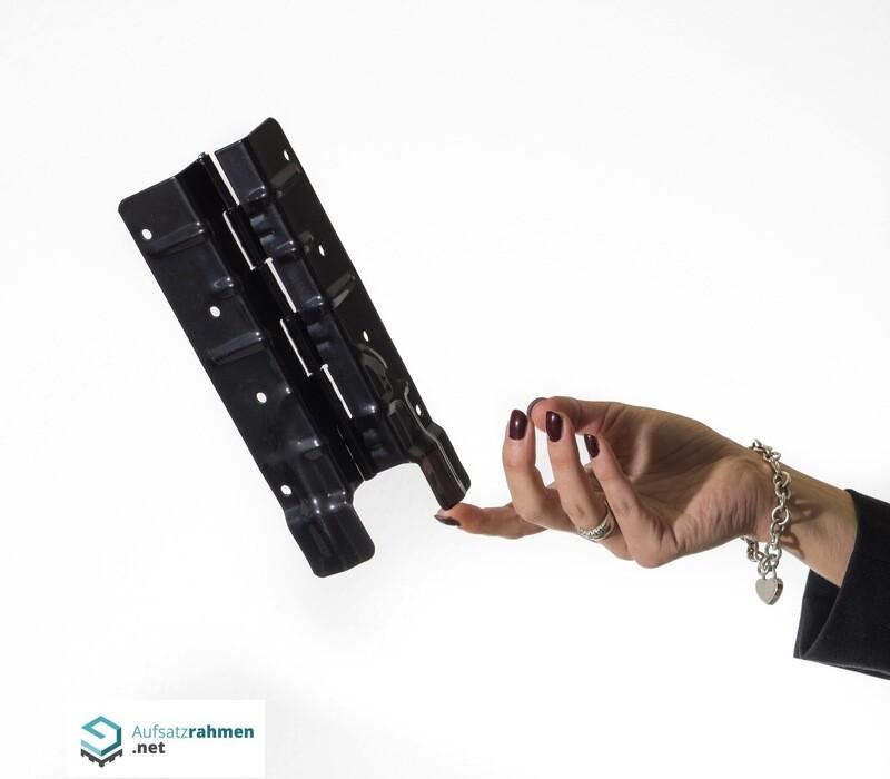 Scharniere für Aufsatzrahmen 200mm - schwarz