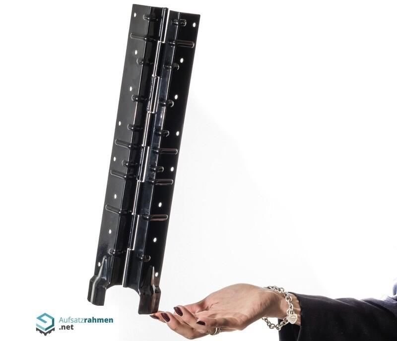 Scharniere für Aufsatzrahmen 400mm - schwarz
