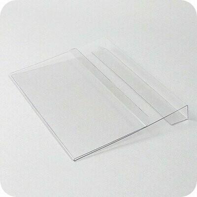 Dokumententasche mit Falz DIN A5 Querformat - Transparent