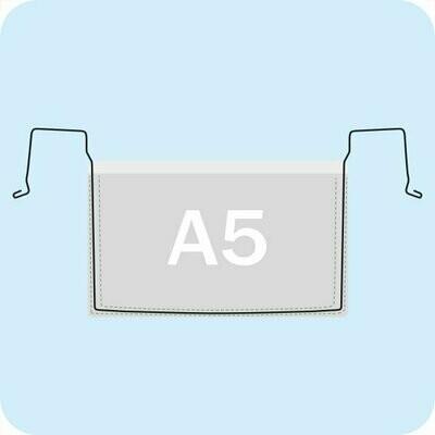 Drahtbügeltasche DIN A5 Querformat ohne Klappe - Transparent