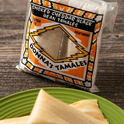 Smoked Cheddar with Black Bean Tamale