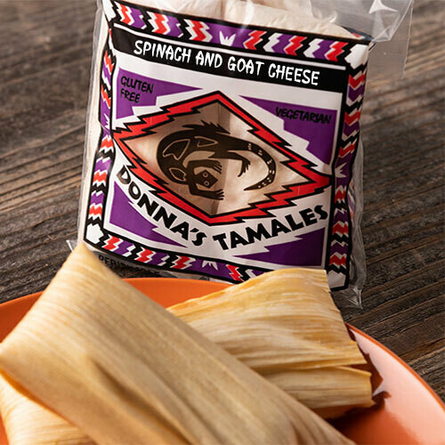 Spinach and Goat Cheese Tamale