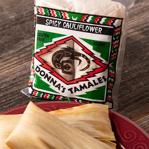 Spicy Cauliflower Tamale