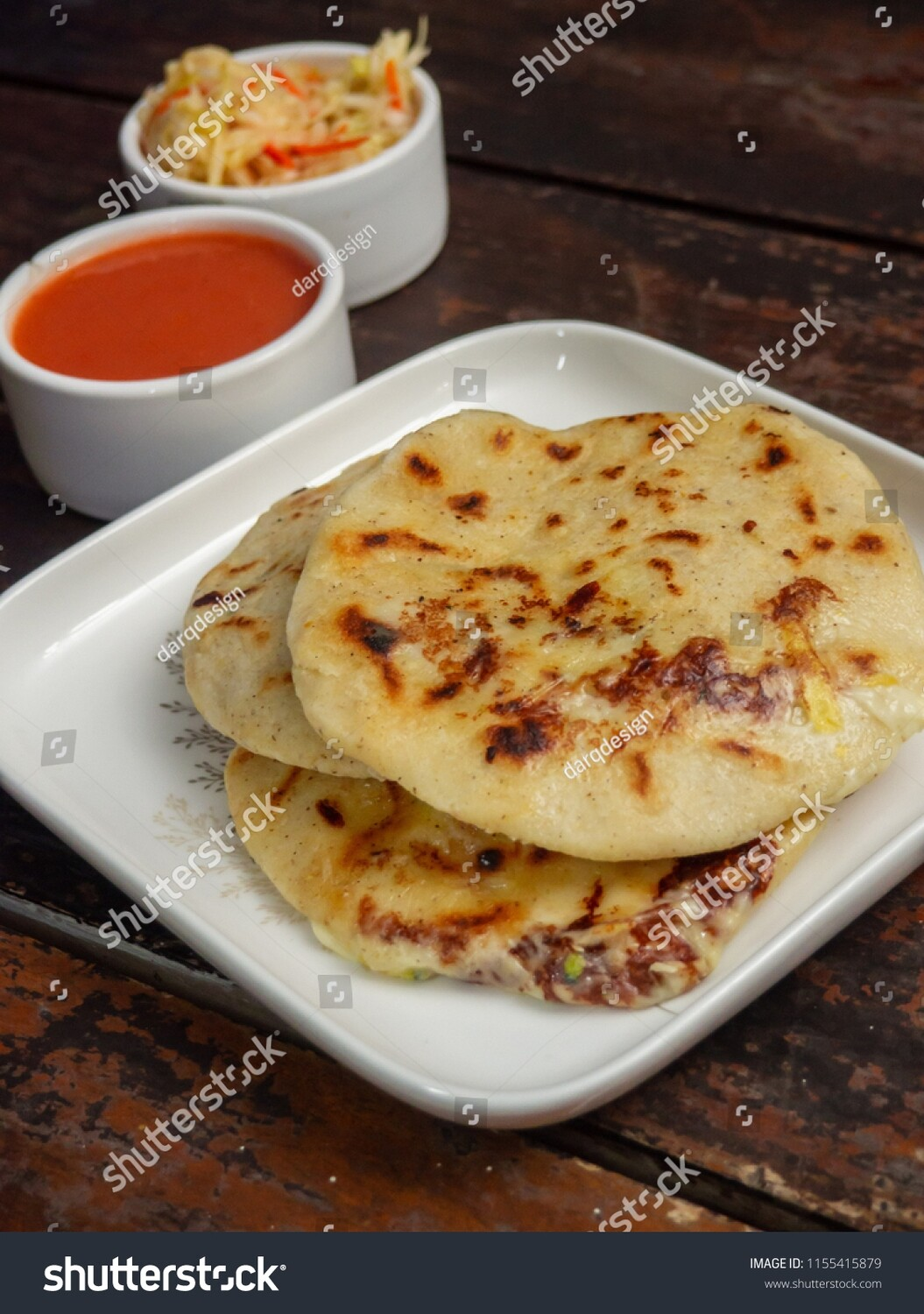 Red Bean & Cheese Pupusa (Vegetarian)