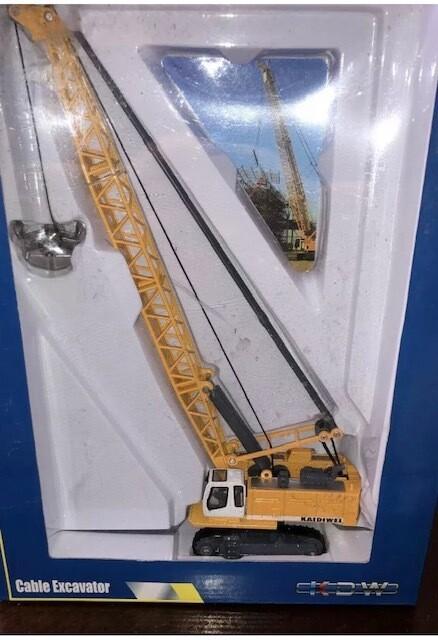 KDW 1:87 mini TOWER CABLE EXCAVATOR Crane Diecast Model