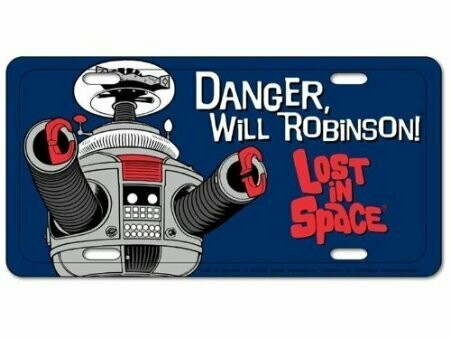 Lost in Space B9 Robot License Plate
