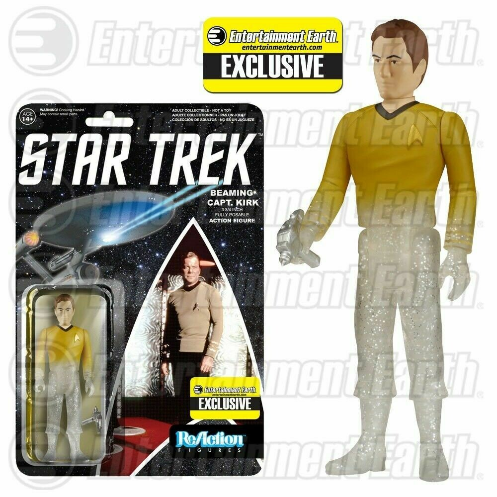 Star Trek Original Series Beaming Kirk ReAction 3 3/4-Inch ReAction Funko