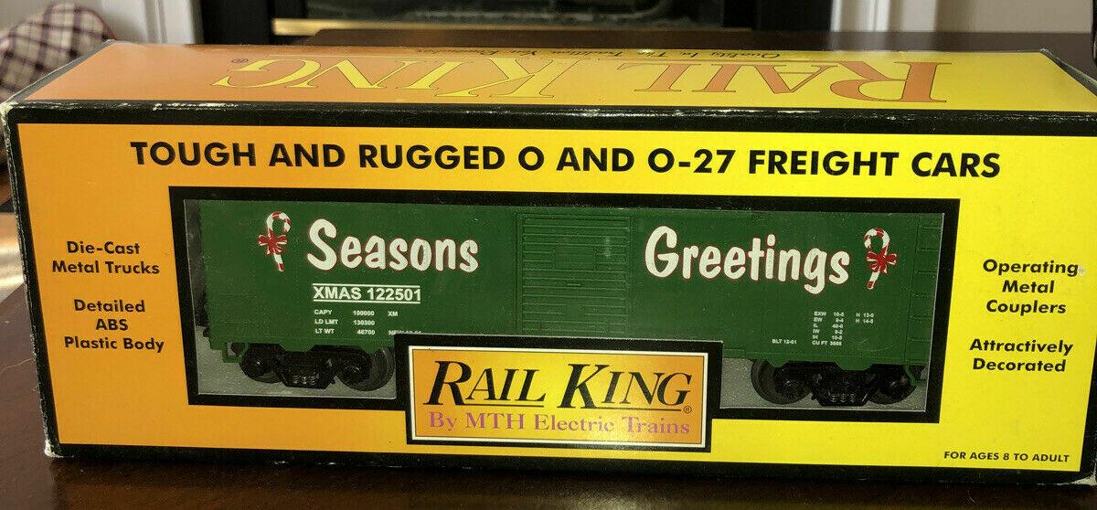 Rail King 2001 Season Greetings Box car EX/Box Mike's Train House