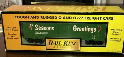 Rail King 2001 Season Greetings Box car EX/Box Mike's Train House