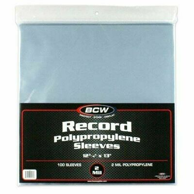 BCW 33 RPM Record Sleeves sold in Quantities of 10 1000 Bags