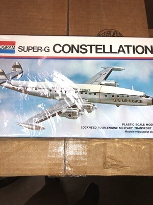 Monogram Super-G constellation stock# 7591 Model Kit Military Airplane