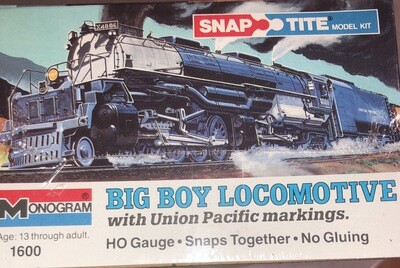 Monogram Ho Gauge Big Boy Locomotive B & O 1984 SnapTite Model Kit