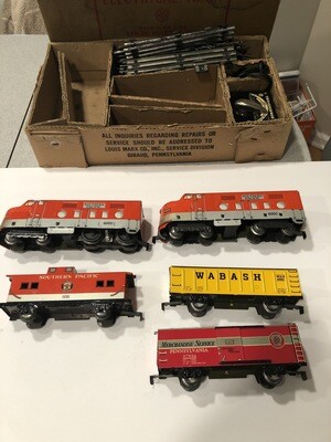 VINTAGE MARX 6000 O GAGUE SOUTHERN PACIFIC SET WORKING CONDITION ORIGINAL BOX