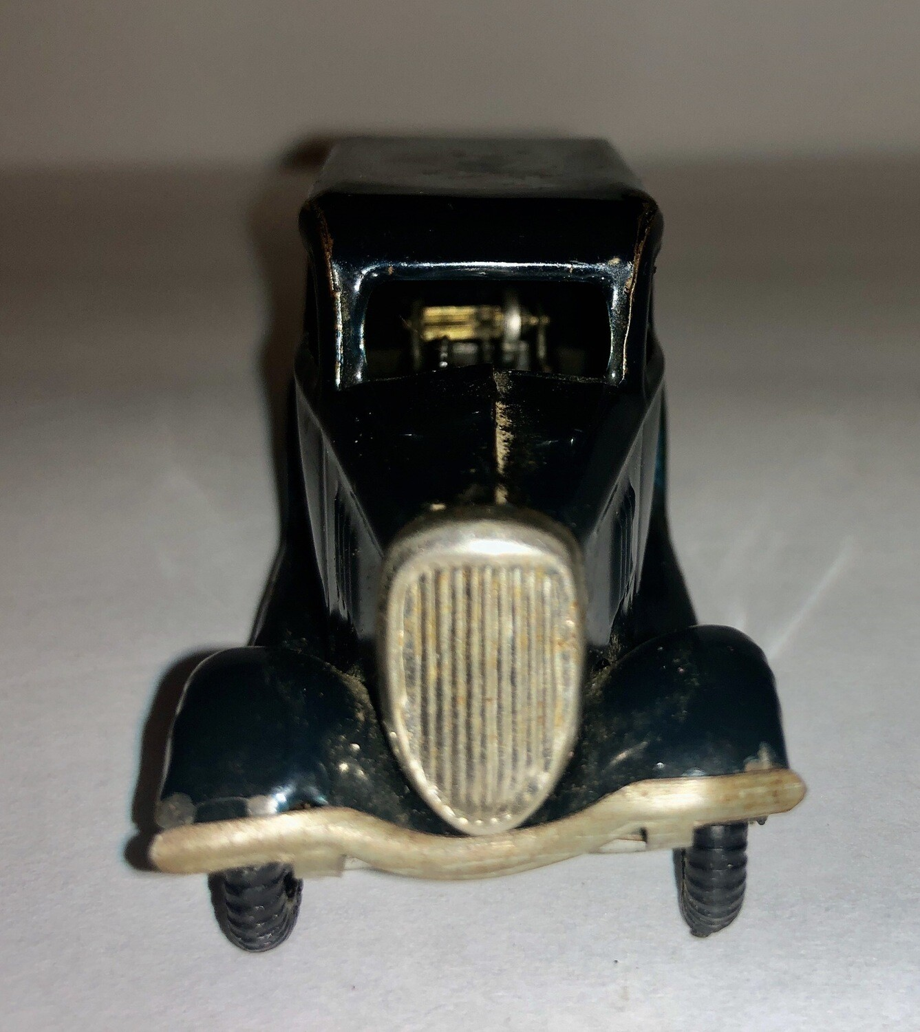 Tr-Ang windup car ford car 1940's Dark Blue No Key!