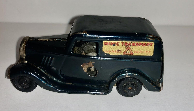 Vintage Tri-Ang Minic Windup Transport Truck Tin No Key