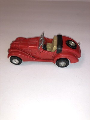 Vintage MG Convertible Red Car In Excellent Condition