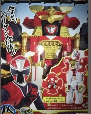 New Bandai Power Ranger Red Shuriken Sentai Ninninger Mini Pia Model Kit 160mm